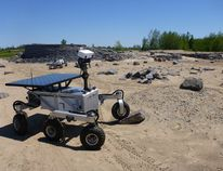 The Canadian Space Agency's Mars Exploration and Science Rover (MESR) is seen operating in the CSA's Mars yard in Saint-Hubert, Que. A group of Canadian students are guiding a rover over Mars-like terrain in a simulation they hope will teach them what it takes to conduct an actual long-distance Mars mission. (Canadian Space Agency/Handout)