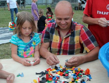 It was all about the lego at the Stardust drive-in on August 13. Local radio station The Eagle 93.5 hosted Night at the Movies - Lego Edition and invited people to dress up. The night featured the Lego movie and lego demonstrations. (ANDREW PRUDEN/Morden Times)