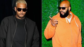 Chris Brown and Suge Knight. (WENN.com)