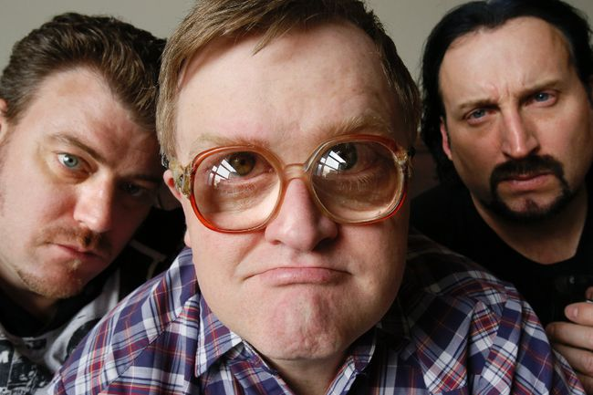 """Robb Wells, Mike Smith, and John Paul Tremblay of  'The Trailer Park Boys'  in Toronto, promoting their new movie """"Don't Legalize It"""" , at The Grand Hotel, on Thursday April 3, 2014. (Stan Behal/QMI Agency)"""