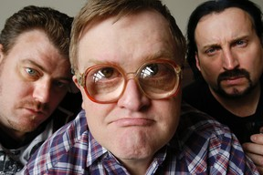 "Robb Wells, Mike Smith, and John Paul Tremblay of  'The Trailer Park Boys'  in Toronto, promoting their new movie ""Don't Legalize It"" , at The Grand Hotel, on Thursday April 3, 2014. (Stan Behal/QMI Agency)"