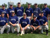 The Walsingham Senators Oldtimers baseball team are all smiles after many hard fought battles at the Canadian National Oldtimers Baseball Federation 2014 National Championships recently held in Brampton. The senators placed third at the event. Pictured are, front row: Brian Hahn, Tim Savoy, Mark Potter, Rom Demaiter, Brain Halls and Neil Anderson. Back row: Wendal Su, Mark Brown, Rob Kenline, Tyler Green Field, Shawn Lisbeth, Darrin Phillips, Ian Chevlio, Steve Penner, Greg Smithson and Jason Mudford. (Contributed Photo)