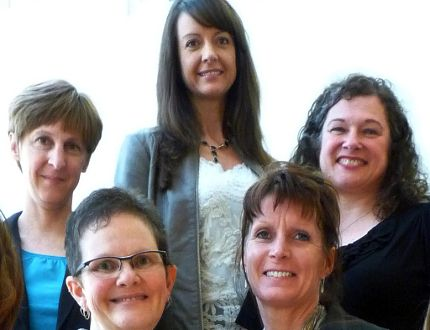 The Interlake-Eastern RHA Palliative Care team: (from bottom left moving clockwise): Crystal Reiter, palliative care nurse; Susan Barnett, psychosocial specialist; Tammie-Lee Rogowski, regional palliative care clinical team manager; Vera Appleyard, psychosocial specialist; Melanie Bernas, palliative care nurse. Appleyard and Barnett will be helping with the IERHA's grief support program. (Submitted photo)