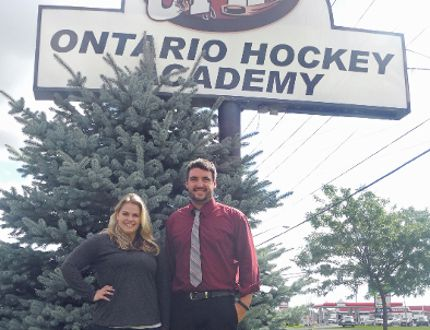 Kayla Lascelle and Craig Thanasse are two of the newest members with the Ontario Hockey Academy. Kevin Gould/Cornwall Standard-Freeholder/QMI Agency