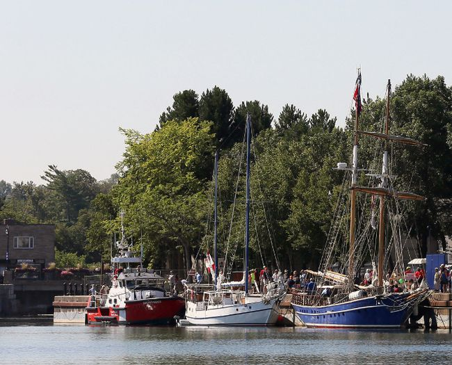 The tall ship Playfair, right, will be one of two such vessels in Port Stanley this weekend for Harbourfest, on through Monday. (File photo)