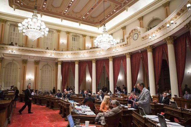 The California Senate at the State Capitol in Sacramento, Calif., appears in a September 12, 2013 file photo. REUTERS files/Max Whittaker