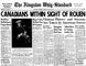 """To download a readable copy of Page 1 and 11 from the Aug. 29, 1944, edition of The Kingston Whig-Standard, <a href=""""http://www.scribd.com/doc/237635252/19440829-Kingston-Whig-Standard"""" target=""""newwindow""""> click here.</a>"""