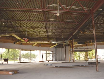 The gutted interior of Checkers being turned into Goodwill's new home in Sherwood Park on Sioux Road, not far from the current County Clothes-Line building. The two will be working together, according to Goodwill's president and CEO. Photo Supplied