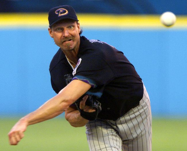 Retired pitcher Randy Johnson is reportedly selling his Arizona mansion for $25 million. (Colin Braley/Reuters/Files)