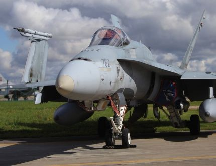 Canadian fighter jet in Siauliai, the home of NATO Baltic Air Policing mission in Lithuania, on Monday, Sept. 1, 2014. (Ernest Doroszuk/Toronto Sun)