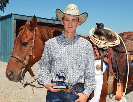 Boston native Logan Donaldson (with his horse Oaks Freckled Jewel) won second in Level 2 Breakaway Roping and fourth overall in Breakaway Roping at the AQHYA World Championship Show held Aug. 1-9 in Oklahoma City, Oklahoma. (EDDIE CHAU Simcoe Reformer)