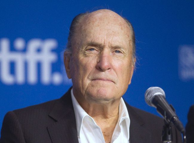 """Cast member Robert Duvall attends a news conference promoting the film """"The Judge"""" at the Toronto International Film Festival (TIFF) September 5, 2014. REUTERS/Fred Thornhill"""