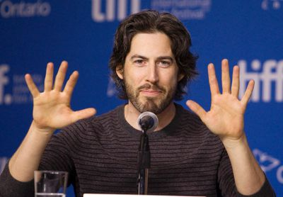 """Director Jason Reitman gestures during a news conference to promote the film """"Men, Women & Children"""" at the Toronto International Film Festival in Toronto, September 6, 2014."""