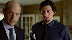 Adam Driver and Corey Stoll in a clip from This is Where I Leave You, which premieres at the Toronto International Film Festival.   (Courtesy)