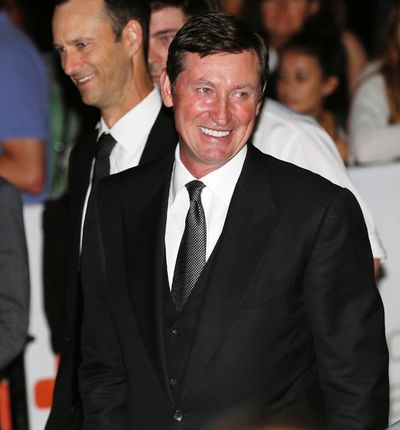 Wayne Gretzky arrives at the Ryerson Theatre for the red carpet premiere of The Sound and the Fury during the Toronto International Film Festival in Toronto on Saturday September 6, 2014. Michael Peake/Toronto Sun/QMI Agency