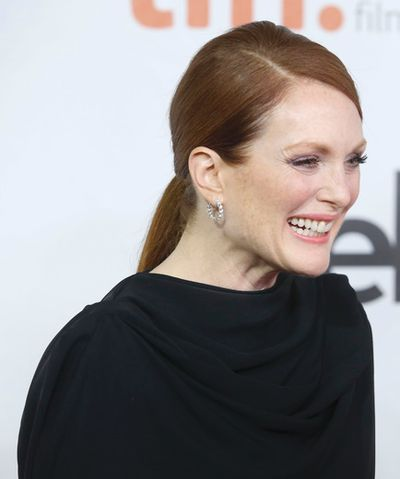 Actress Julianne Moore at the red carpet gala at Roy Thomson hall for