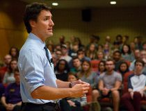 Justin Trudeau in London, Ont.
