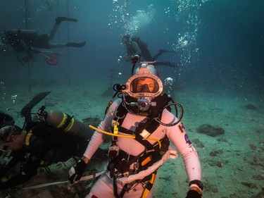 From September 8 to 14, 2014, CSA Astronaut Jeremy Hansen takes part in NASA's NEEMO19 mission in Aquarius, an underwater habitat located about 19 metres below the surface off Key Largo in the Florida Keys. The undersea environment is the closest analogue on Earth to a gravity-weak environment like that of asteroids, the moons of Mars or Mars itself, making it the best place to test relevant exploration concepts. Hansen is the Exploration Lead for the mission. (Photo from Canadian Space Agency)