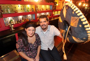 Cook Hayley Klassen (left) and chef/co-owner Diego Rios are seen in Don Pedro's Mexican Kitchen and Cantina in Winnipeg, Man. Thursday September 11, 2014. The restaurant will open next Tuesday.(Brian Donogh/Winnipeg Sun/QMI Agency)