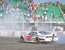 L.P. Dumoulin has a commanding 16-point lead in the NASCAR Canadian Tire Series title hunt heading into the finale. (QMI AGENCY)