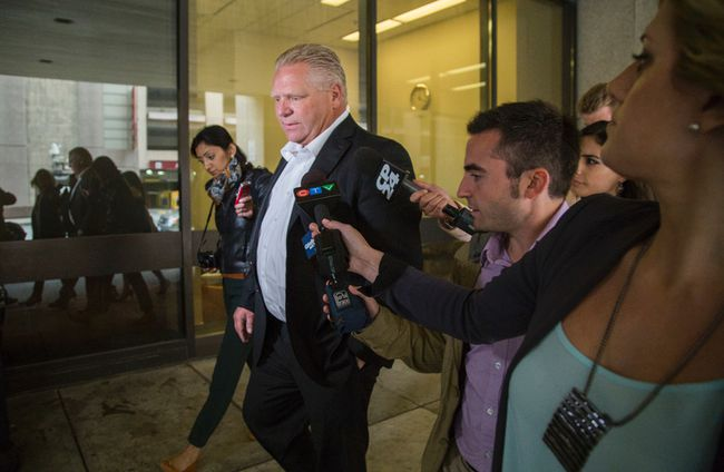 Mayor Rob Ford's brother, Doug, is pictured as he arrived Tuesday at Mt. Sinai Hospital in Toronto. (ERNEST DOROSZUK, Toronto Sun)