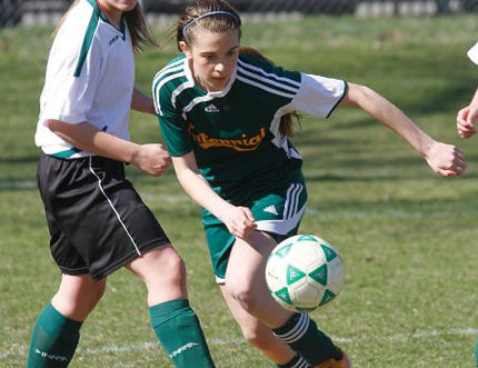 CSS grad Kayla Cassibo, shown playing soccer for the Chargers, is the OCAA women's rugby Player of the Week. (Intelligencer photo)
