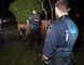 An Australian Federal Police (AFP) officer (front) and a New South Wales policeman stand near a suspect (L) who was detained during a raid on a house in western Sydney, in this handout picture from the AFP September 18, 2014. Intelligence showed that militants connected with radical group Islamic State were planning to behead a member of the public in Australia, Prime Minister Tony Abbott said on Thursday after hundreds of police raided homes in a sweeping counter-terrorism operation. More than 800 police were involved in the pre-dawn security operation in Sydney and Brisbane, described as the largest in Australian history. At least 15 people had been detained, police told a news conference.  REUTERS/Australian Federal Police Handout via Reuters