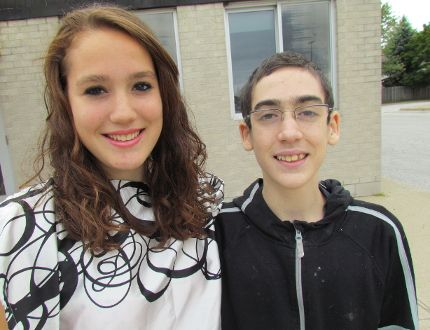 Sarnia's Emily Deuning, 16, has been matched as a marrow donor for her brother Zachary Deuning, 15. Zachary and his family will be travelling to Disney World in Florida, thanks to Make a Wish Southwestern Ontario. (PAUL MORDEN, The Observer)