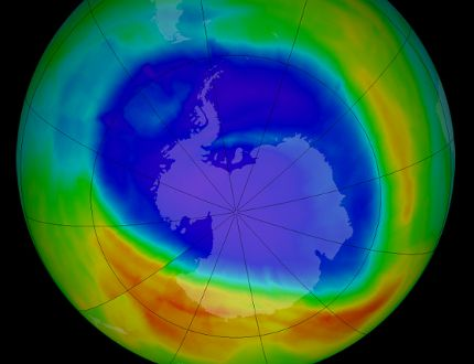 Earth's protective ozone layer is on track for recovery within the next few decades according to a new assessment by 282 scientists from 36 countries. The abundance of most ozone-depleting substances in the atmosphere has dropped since the last assessment in 2010, and stratospheric ozone depletion has leveled off and is showing some signs of recovery. (NASA)