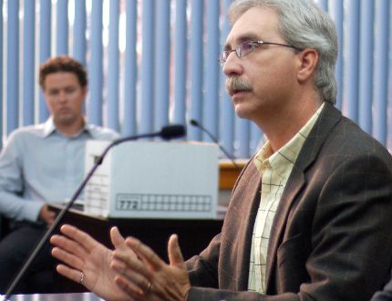 <p>Norm Levac, seen making a presentation to city council in this file photo, is retiring at the city's CAO at the end of the year.</p><p>File photo/CORNWALL STANDARD-FREEHOLDER