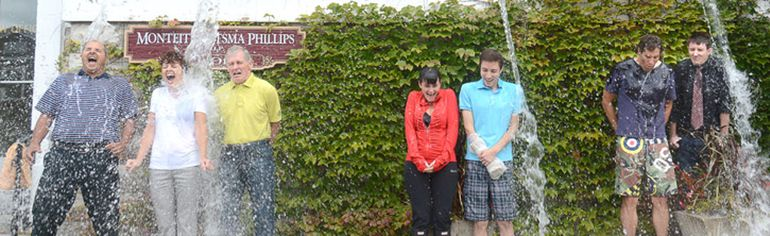 The staff at Stratford's Monteith Ritsma Philips law office helped raise $3,000 Thursday in the fight against ALS. SCOTT WISHART/BEACON HERALD