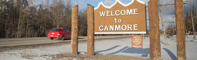 Canmore town sign