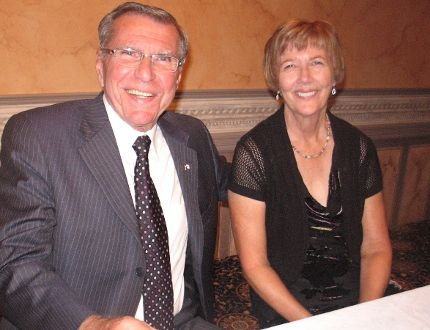 MP Guy Lauzon with his wife Frances, Friday night at the Children's Treatment Centre Dinner and Roast.
