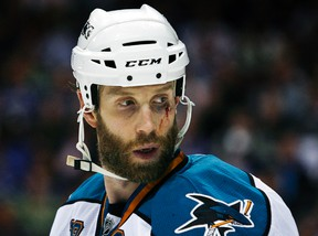 San Jose Sharks centre Joe Thornton took exception to comments made by general manager Doug Wilson in the offseason. (Reuters)