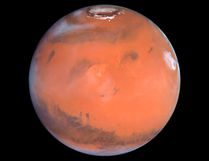 This 1999 Hubble telescope image shows Mars when Mars was 54 million miles (87 million kilometers) from Earth. A NASA spacecraft designed to investigate how Mars lost its water is expected to put itself into orbit around the Red Planet on Sunday after a 10-month journey. REUTERS/NASA/Handout