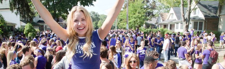 Western University students celebrate Homecoming on Broughdale Ave. (Free Press file photo)