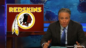 A Washington Redskins fan called the police after being recorded for a Daily Show segment. (Comedy Central)