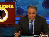 Redskins fan calls cops on Daily Show