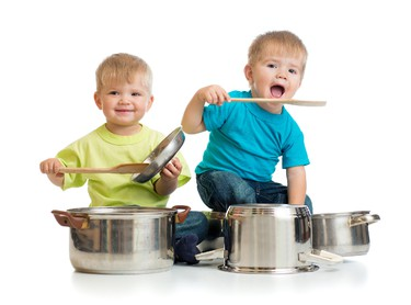 Pots and PansWho needs kitchen playsets when you have pots and pans? With some imagination, these common household products become an armoured helmet, a general's hat, or a set of drums. (Andrey Kuzmin/Fotolia)