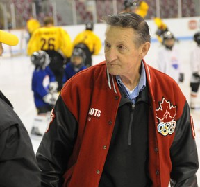 Walter Gretzky will be returning to Tillsonburg Saturday for a NHL Alumni charity hockey game as guest coach and ambassador. His son Brent will be lacing up for the Alumni against the Oxford County OPP Law Enforcement All-Stars. CHRIS ABBOTT/FILE PHOTO