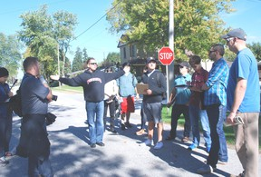 Fanshawe College students in the Integrated LandPlanning Technologies course toured the streets of Dutton Thursday looking for ways to suggest community improvements.