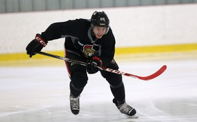 Ottawa Senators took to the ice for the first time officially Friday, Sept. 19, 2014 as training camp opened. Pictured is Mike Hoffman. Chris Hofley/Ottawa Sun/QMI Agency