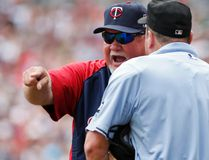 Minnesota Twins manager Ron Gardenhire reacts to getting ejected from the game by umpire Marty Foster in the third inning at Target Field on July 5, 201. (Bruce Kluckhohn/USA TODAY Sports)