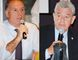 Mayoral hopefuls Charlie Luke, Dennis Travale and Jim Miller (not pictured), shared their views about tobacco farming during a Simcoe Rotary meeting on Sept. 29. (MONTE SONNENBERG Simcoe Reformer)