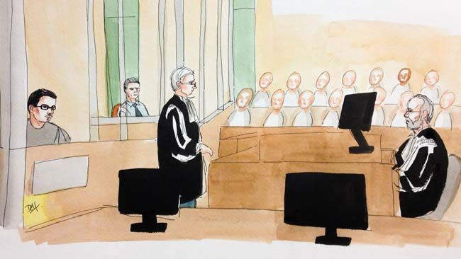First day of proceedings in the Luka Magnotta murder trial in Montreal, Sept. 29, 2014. (DELF BERG/QMI Agency)