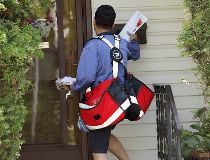 Canada Post letter carrier