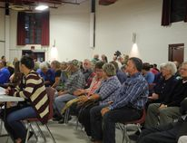 About 180 residents attend Wednesday's all-candidates meeting.