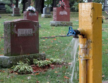 Some on Norfolk council don't like a proposed plan to spend $117,000 on upgrades to the watering system at Oakwood Cemetery in Simcoe. (MONTE SONNENBERG Simcoe Reformer)