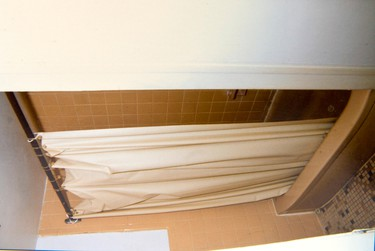Bathroom of the accused among the evidence presented in the Luka Magnotta murder trial in Montreal, Sept. 30, 2014. (Courtesy Montreal Police)