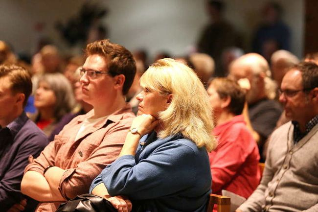 There was a large turnout for a forum in 2014 featuring the city's mayoral candidates. (Gino Donato/The Sudbury Star)